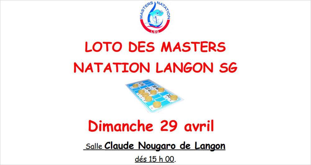 Loto des Masters Natation Langon SG