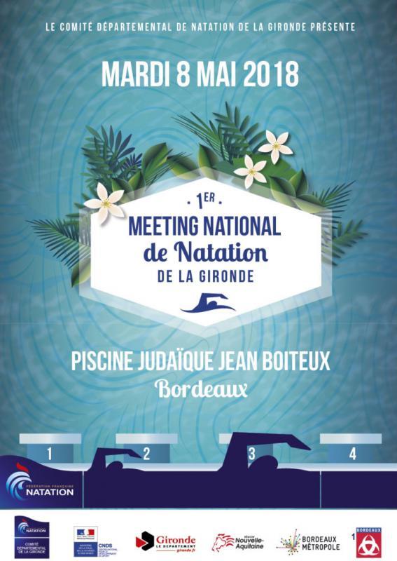 Photo 1er meeting National de Natation de la Gironde